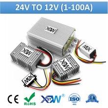 Xwst dc 24 v para 12 v 1a para 100a conversor de energia step down 24 volts para 12 volts buck regulador tensão transformador