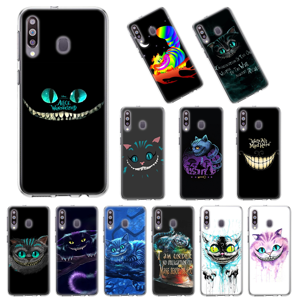 Alice In Wonderland Cheshire Cat Soft Case For Samsung Galaxy A10 A10E A20 A20E A30 A40 A50 A70 A11 A41 A51 A71 A91 TPU Cover