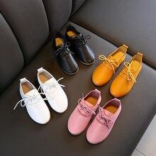 CYSINCOS/ г.; кожаная обувь для девочек; однотонная детская обувь принцессы; выразительная обувь на плоской подошве с мягкой подошвой; Детская Обувь На Шнуровке Для нового года