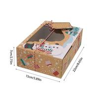 Kraft Paper Christmas Gift Box 12 Pcs Set
