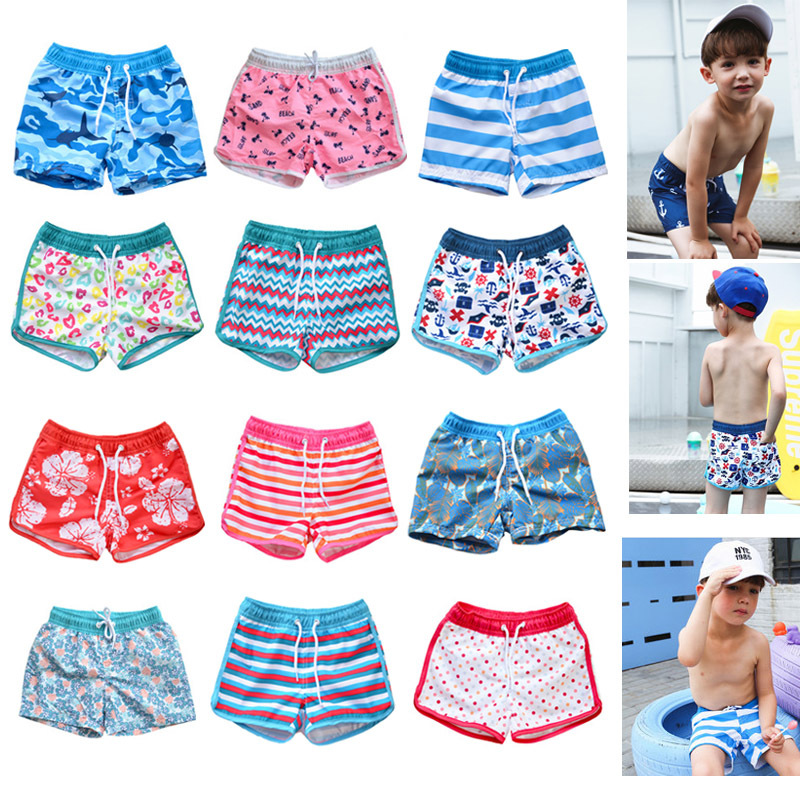 2020 Combination Parent And Child Beach Shorts Big Boy Men And Women Children Lace-up Regulation Boxer Hot Springs Swimming Trun