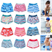 2020 Combination Parent And Child Beach Shorts Big Boy Men And Women Children Lace-up Regulation Boxer Hot Springs Swimming Trun(China)