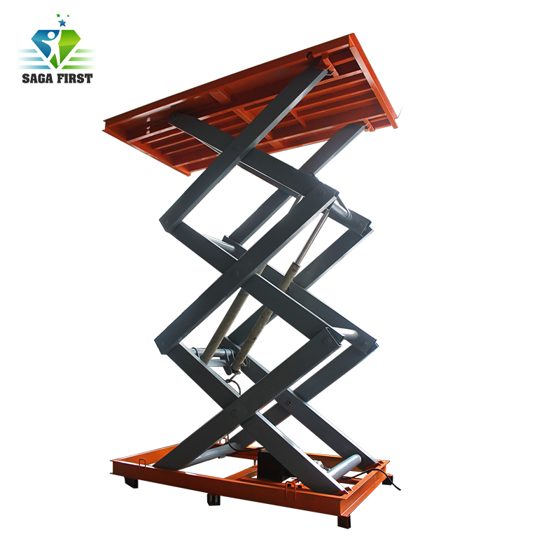4m Stationary Hydraulic Scissor Lift  Table Customized Acceptable