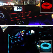 10 Color Motorcycle Decorative Lamp Car LED Strips Decoration Strip Flexible Universal Interior Light Auto Accessories
