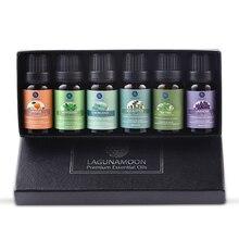 Чистые эфирные масла lagunoon, 10 мл, 6 шт., подарочный набор, увлажнитель, ароматерапия, эвкалипт, мята, лемонграсс, апельсиновое масло чайного дерева