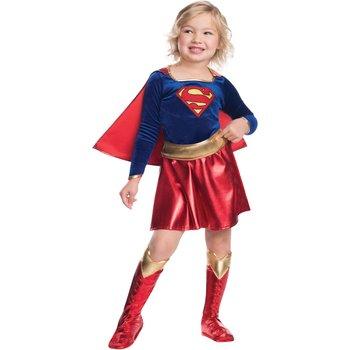 2018 nowy kostium dziecko Sexy dziewczyny kostium Supergirl Cosplay Superman Halloween Purim kostium dla dzieci Party Dress tanie i dobre opinie Zestawy Anime super girl Pants Cloak Jumpsuits Rompers Kostiumy Poliester