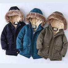 Зимняя детская одежда куртки для мальчиков бархатные теплые