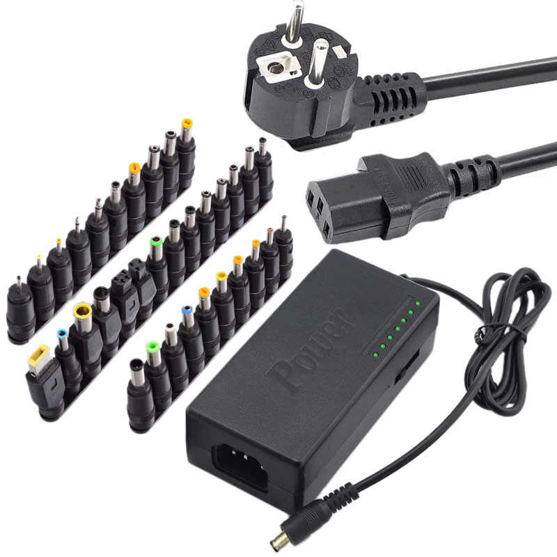 34 PCS Universal Power Adapter 96W 12V Sampai 24V Adjustable Portable Charger UNTUK Dell Toshiba Hp Asus acer Laptop Uni Eropa Plug