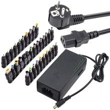 34Pcs אוניברסלי מתאם מתח 96W 12V כדי 24V מתכוונן נייד מטען עבור Dell Toshiba Hp Asus acer מחשבים ניידים האיחוד האירופי תקע