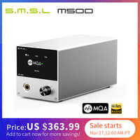 SMSL M500 DAC MQA ES9038PRO ES9311 XMOS XU-216 32bit 768kHz DSD512 Hi-Res Audio Decoder & Headphone Amplifier