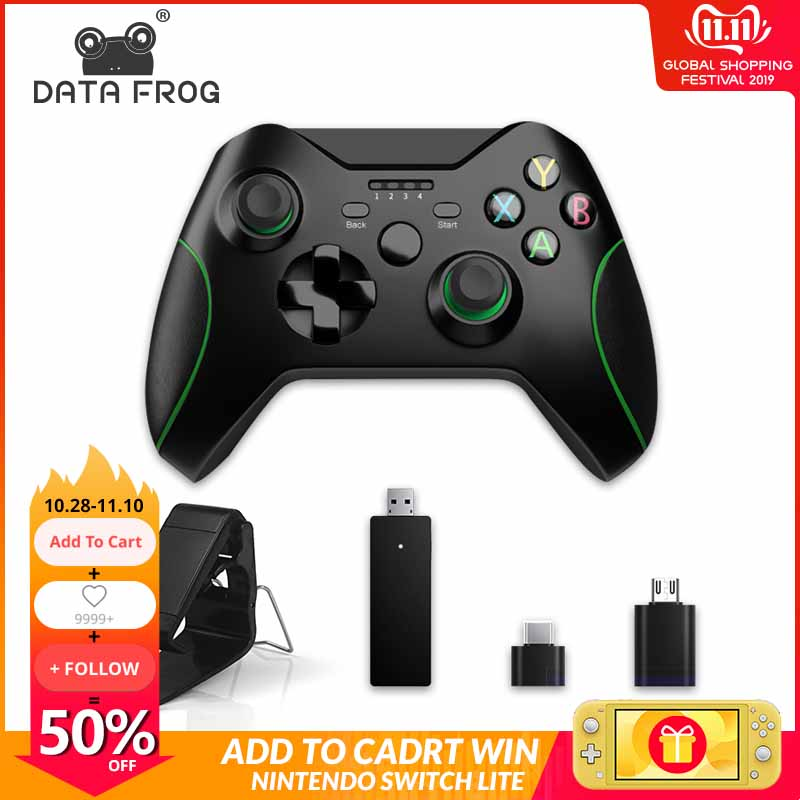 Us 2428 45 Offdata Frog 24g Wireless Game Controller Joystick For Xbox One Controller For Ps3android Smart Phone Gamepad For Win Pc 7810 In