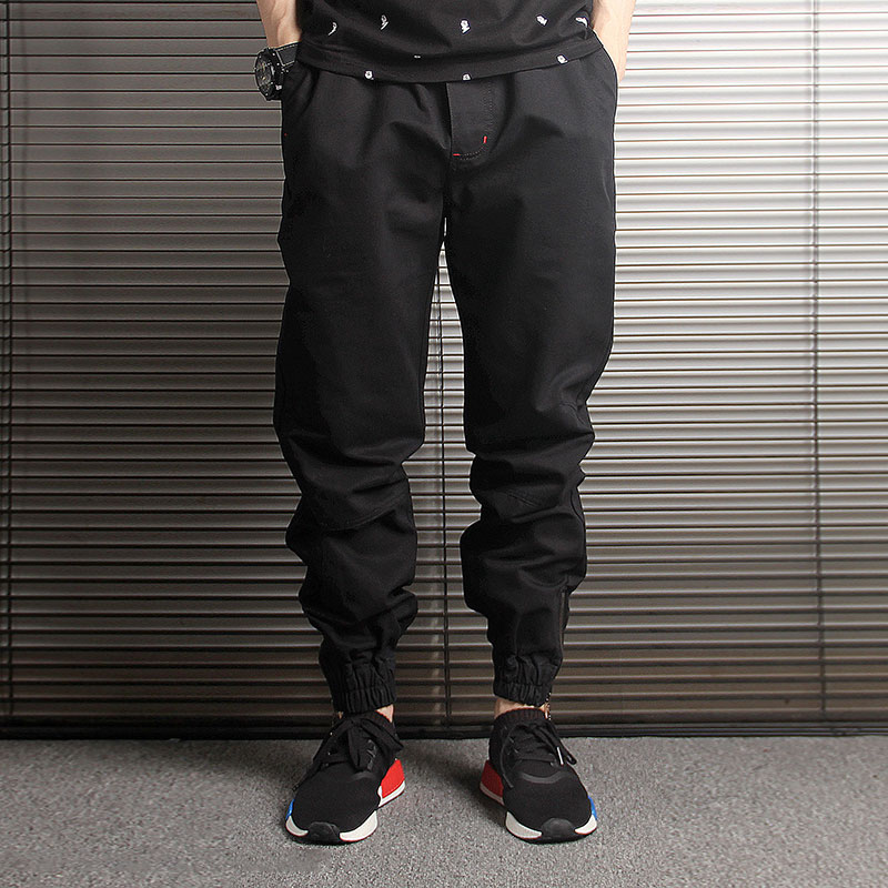 Japanese Fashion Men Jeans Loose Fit Black Camouflage Harem Trousers Cargo Pants Slack Bottom Streetwear Hip Hop Joggers Pants
