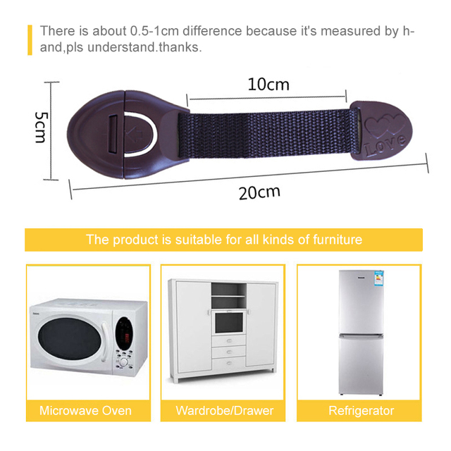 5PCs/lot Baby Drawer Lock Children Security Protection Child Drawer Door Locks Cabinet Cupboard Safety Kids Locks For Wardrobe 6