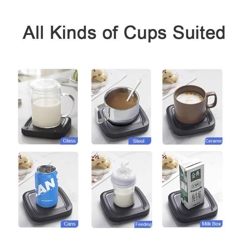 コーヒーカップマグptc加熱パッドウォーマーオフィスホーム使用してデスクトップ電気飲料ウォーマープレートためココア茶水ミルク
