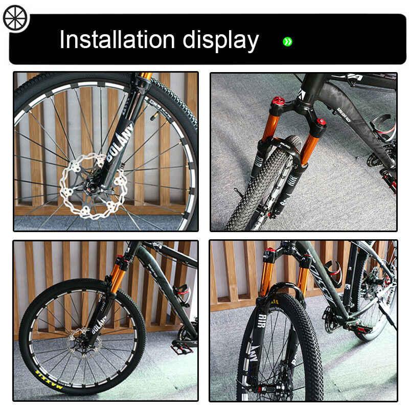 "26/"" 27.5/"" 29/"" BOLANY MTB Bike Suspension Fork Manual Lockout 9*100mm QR Air Fork"