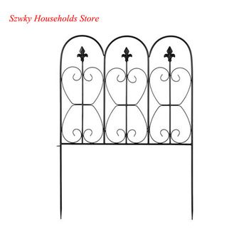 Fashionable And Beautiful Oval Top Iron Art Garden Fence 24*33 A Set of 5 Pieces  - buy with discount