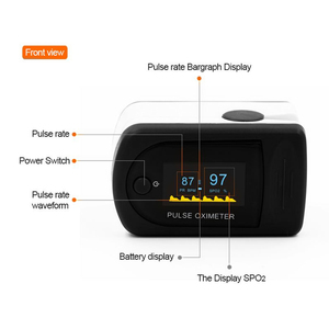 Image 5 - Digital Thermometer Fingertip Pulse Oximeter Finger Blood Oxygen Sensor Saturation SpO2 Heart Rate MonitorMeter Random color