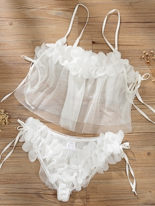 Image 4 - Sexy Pajamas Female Summer Thin Section Transparent Princess Home Backless 2 Piece Set Pajamas for Women Sleepwear Sexy Lingerie