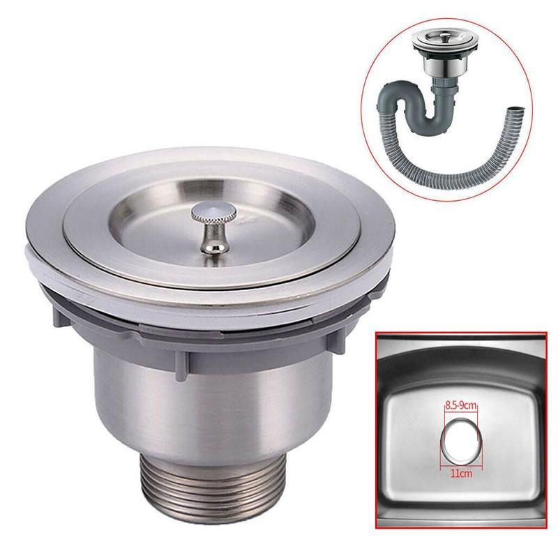 1pc Stainless Steel Kitchen Sink Shower Drain Hole Trap Valve Sink Cage Up Accessories Kitchen Tools