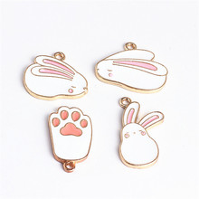 2019 new design fashion alloy cute super buns rabbit earrings for women bracelet necklace pendant  diy jewelry accessories
