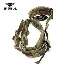 Fma tático rápida ajustável acolchoado 2 ponto rifle arma sling multicam alça de ombro acessórios