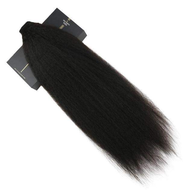 Ugeat queue de cheval Extensions de cheveux 14-24 pouces Machine Remy brésilien cheveux humains 80g queue de cheval postiches pour les femmes