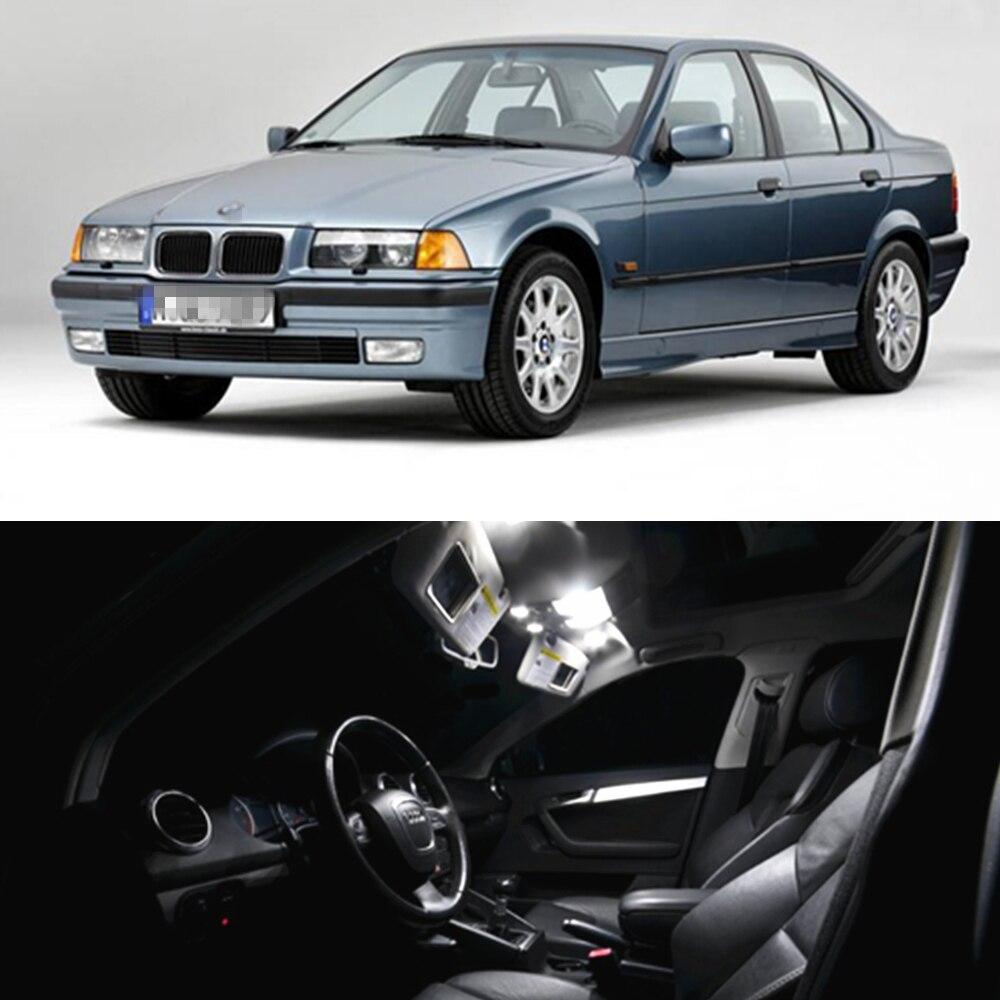 9 Bulbs White LED Interior Light Kit For BMW 3 Series E36 Compact Hatchback
