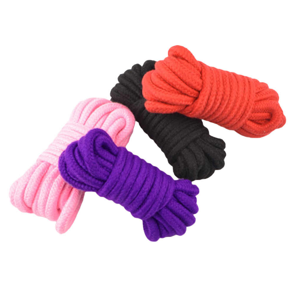 5m długi gruby silne bawełny liny Sex flirty zabawka powściągliwość Bondage uprząż liny miękki i bezpieczny materiał sex zabawki dla kobiety
