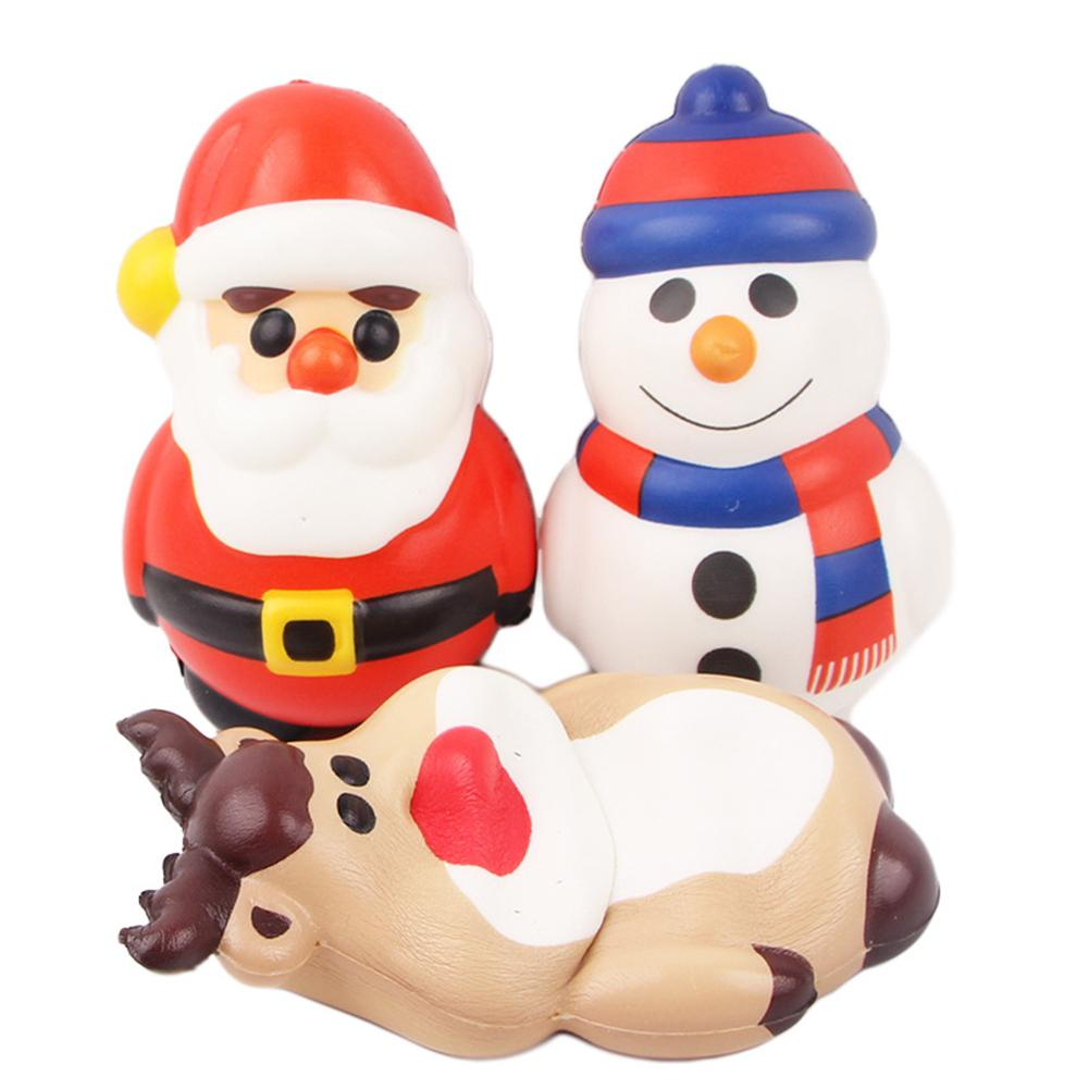 Cute Christmas Cartoon PU Slow Rising Squishies Toy Vent Stress Relief Toy