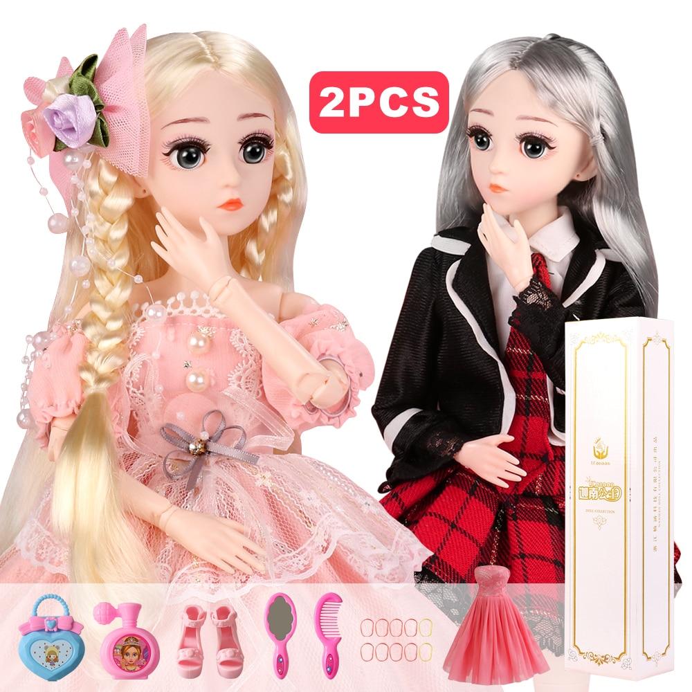 2 шт 1/4 SD BJD кукла 18 шариковых шарнирных кукол с полным комплектом одежды обувь парик волос Макияж Лучший подарок для девочек детские игрушки|Куклы|   | АлиЭкспресс