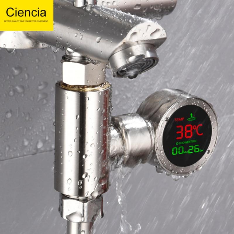 Robinet de douche LED affichage de la température de l'eau capteur de température thermomètre de salle de bain accessoires de matériel