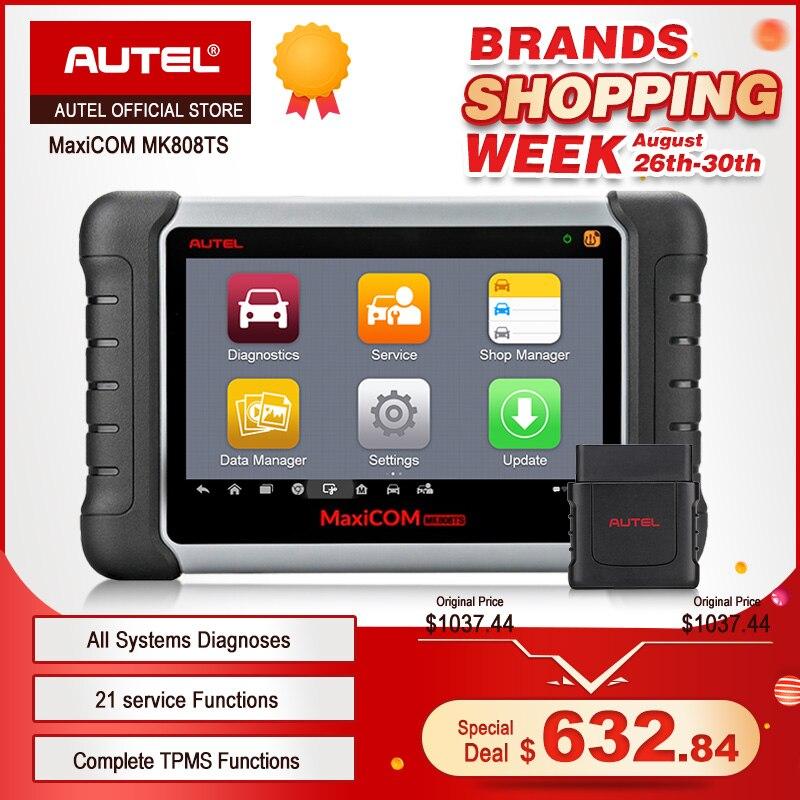 Autel MaxiCOM MK808TS Professionale OBD2 Bluetooth Car Diagnostic Scan Tool OBD 2 Scanner Programmazione TPMS Sensore Sensore di PK MK808 MK808BT