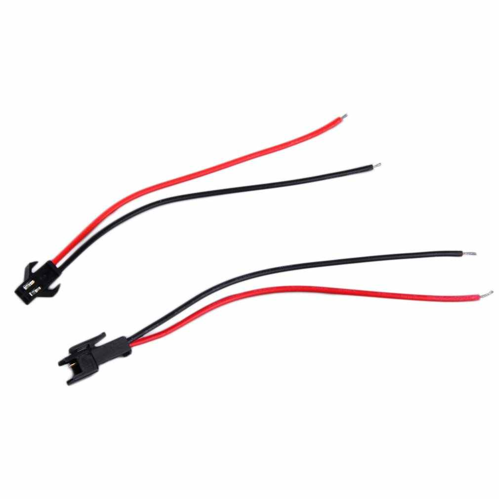 2-Pin ชายหญิงเสียบกับสายไฟสายไฟสำหรับ LED Strip Lamp DRIVER