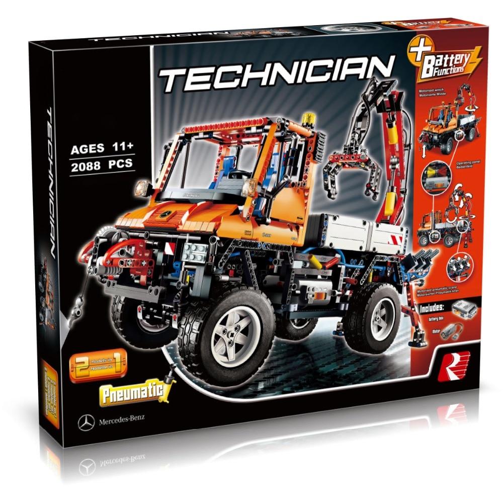 20019 2088Pcs Technic Truck Unimog U400 Compatible With 8110 Model Building Kits Toys Hobby Educational Blocks Bricks Gifts