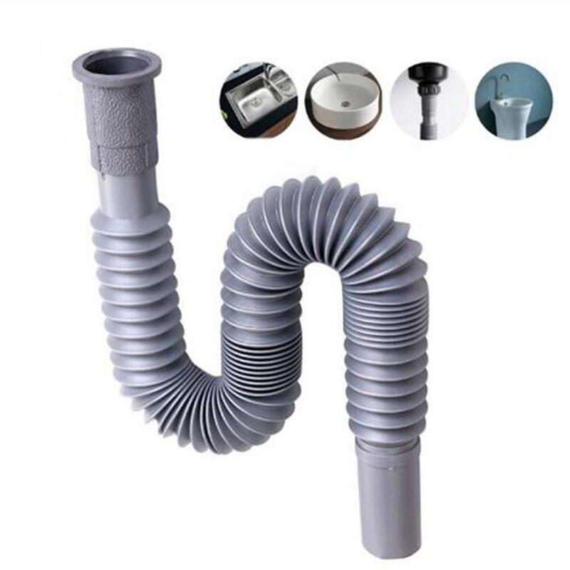 Кухонная канализационная труба Гибкая ванная дренаж для раковины даункомер шланг отработанная труба мойка труба раковины аксессуары для