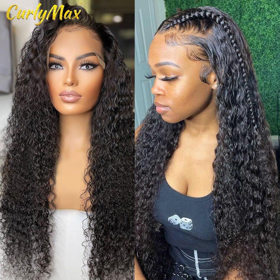 Luvin 30 40-дюймовые бразильские волнистые человеческие волосы, парики 4 × 4, парики на шнурках 13x4 13x6, парики для женщин