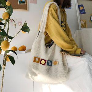 Image 3 - Bolsa Feminina Công Suất Lớn Túi Có Thể Gấp Lại Được Tái Sử Dụng Túi Đeo Vai Có Thể Tháo Rời Táo Tay Tote Nữ Casual