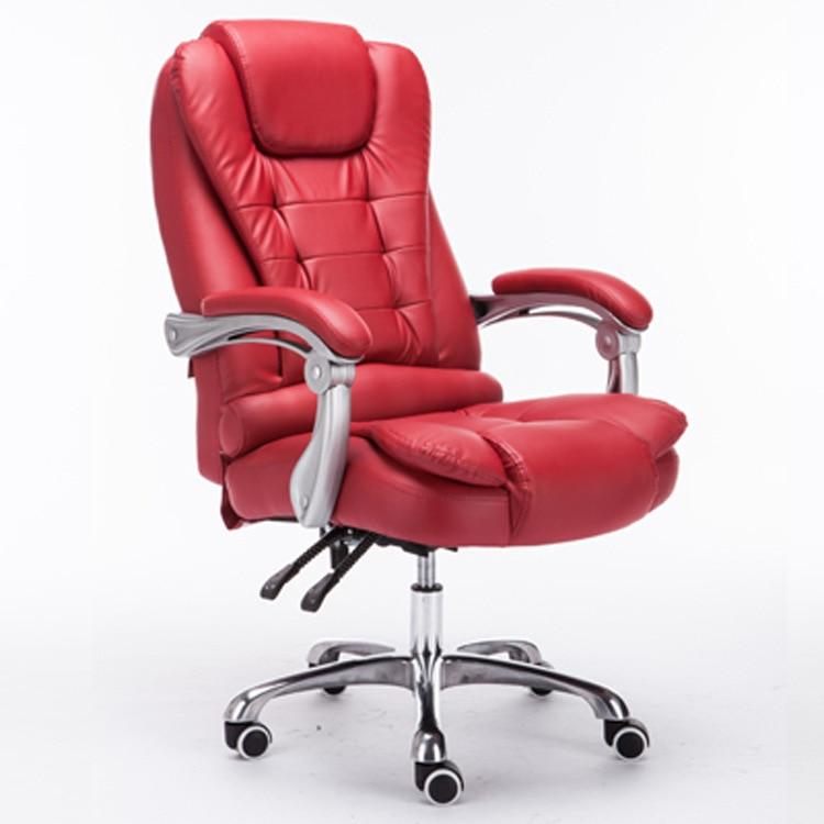 High Quality Ergonomic Executive Office Chairs Pu Material High Elastic Cushion Lying Lifting Swivel Bureaustoel Ergonomisch