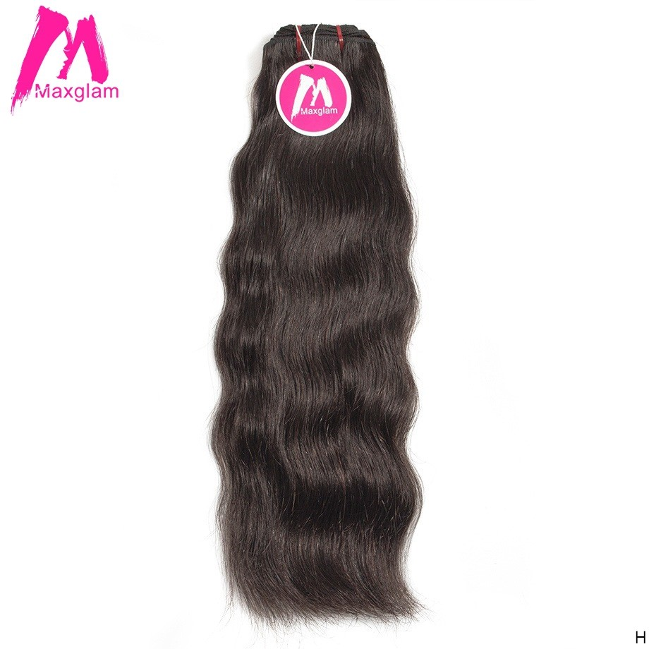 Raw Indian Straight Virgin Hair Extension Bundles Natural Short Human Hair Weave For Black Women Long 1 3 4 Bundles MAXGLAM