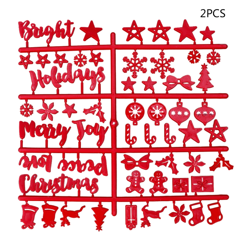Red Christmas Felt Sign Board Plastic Letters For Felt Letters Board For Sign Board School Office Supplies C26
