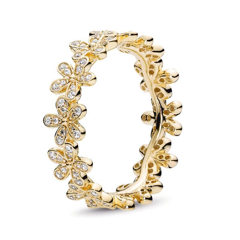 Кольцо на палец в форме сердечко серебряного цвета для женщин, европейская оригинальная Корона, изящные кольца на палец, свадебные украшения, 50 стилей, Прямая поставка - Цвет основного камня: Rings 007