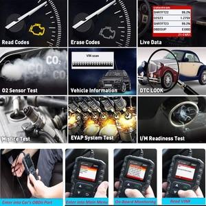 Image 3 - 起動フルOBD2コードリーダースキャナcreader 3001 obdii/eobd車診断ツールロシアCR3001 pk AL319 AL519 OM123
