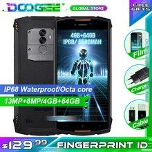DOOGEE S55 sağlam telefon 5.5 inç 18:9 IP68 su geçirmez toz geçirmez Smartphone MTK6750T 5500mAh 4GB 64GB cep telefonu