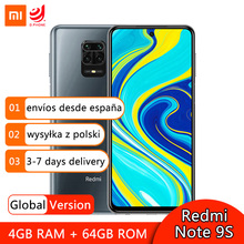 Global Version Xiaomi Redmi Note 9S 9 S 4GB 64GB Smartphone Snapdragon 720G Octa Core 48MP Quad Cameras 6.67