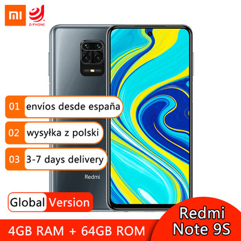 Global Version Xiaomi Redmi Note 9S 9 S 4GB 64GB Smartphone Snapdragon 720G Octa Core 48MP Quad Cameras 6.67 FHD Screen 5020mAh телефон xiaomi mi a3 4gb 64gb серый global version
