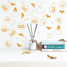 GloryStar 6Pcs PVC Halloween Wall Stickers,Halloween Ghost Pumpkin Wall Sticker,Halloween Decoration for Home14.8*21CM halloween style luminous pvc wall sticker