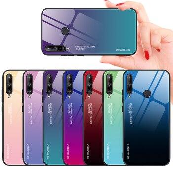 Перейти на Алиэкспресс и купить Градиентный чехол из закаленного стекла для Huawei P40 Lite E Pro, защитная задняя крышка для Huawei Honor 30 Play 4T Pro, жесткий стеклянный чехол
