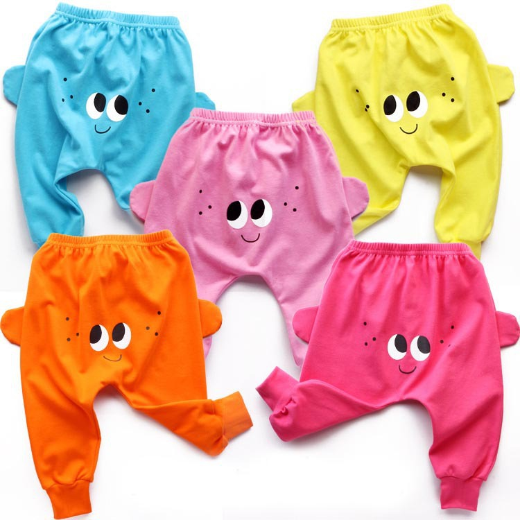 New Spring And Autumn Children Pure Cotton Big Butt Pants Cute Baby Boy Girl Korean Version Pants Factory Direct Sales