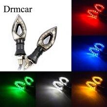 Universal Bendable Motorcycle LED Turn Signal Flowing Water Indicators Taillight Flexible 12LED Blinker Amber Flashing Lamp