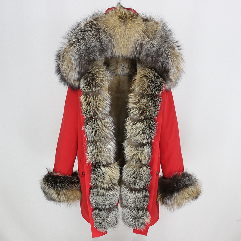 OFTBUY Waterproof Long Parka Winter Jacket Women Real Fur Coat Natural Fox Fur Collar Hood Thick Warm Streetwear Detachable New 35